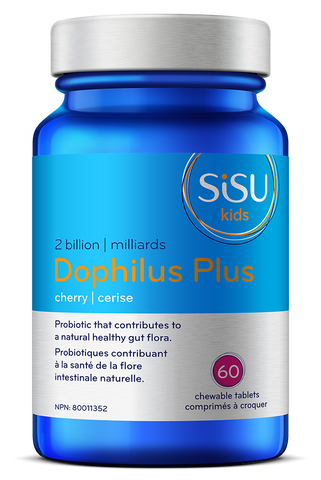 Sisu - Kids' Dophilus Plus Chewable 60 tabs - Ebambu.ca free delivery >59$