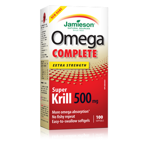 Jamieson Omega Complete Super Krill 500 mg by Jamieson - Ebambu.ca natural health product store - free shipping <59$