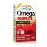 Jamieson Omega Complete Super Krill 1000 mg 30 softgels by Jamieson - Ebambu.ca natural health product store - free shipping <59$