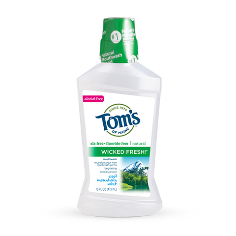 Tom's of Maine - Wicked Fresh Mouthwash - Cool Mountain Mint by Tom's of Maine - Ebambu.ca natural health product store - free shipping <59$