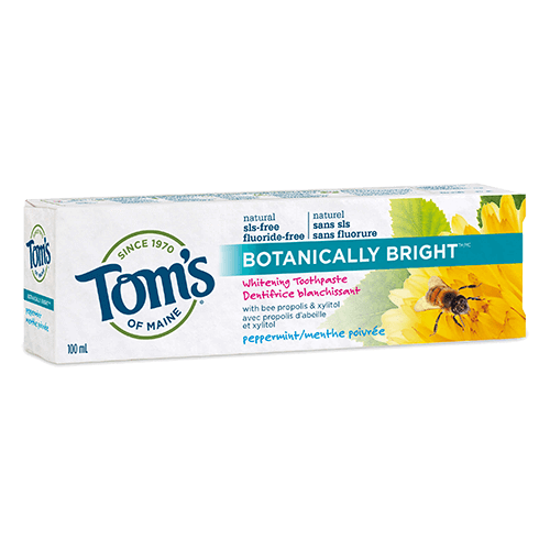 Tom's of Maine - Premium Adult Toothpaste - Peppermint SLS free Whitening - Ebambu.ca free delivery >59$