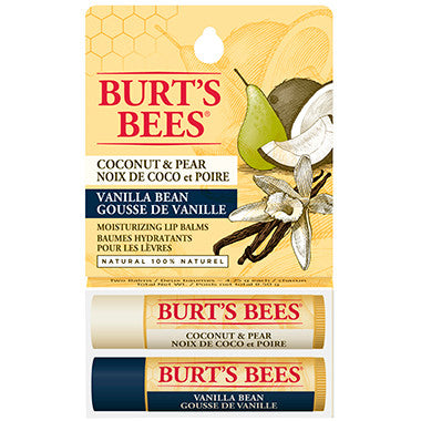 Burt's Bees Lip Balm Vanilla Bean / Coconut & Pear Lip Balm Twin Pack by Burt's Bees - Ebambu.ca natural health product store - free shipping <59$
