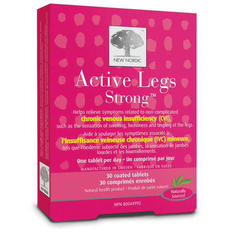 New Nordic Active Legs 30 tabs by New Nordic - Ebambu.ca natural health product store - free shipping <59$