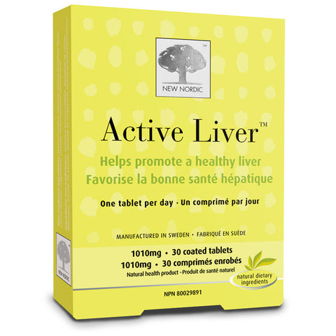 New Nordic Active Liver 30 coated tabs by New Nordic - Ebambu.ca natural health product store - free shipping <59$