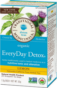 Traditional Medicinals Détox quotidienne au citron biologique