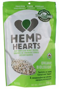 Manitoba Harvest Organic Hemp Hearts 200 g by Manitoba Harvest - Ebambu.ca natural health product store - free shipping <59$