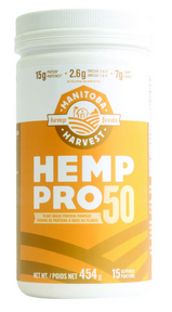 Manitoba Harvest Hemp Pro 50 Protein Powder 454 g by Manitoba Harvest - Ebambu.ca natural health product store - free shipping <59$