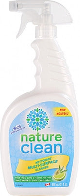 Nature Clean Multi Surface Spray Lime / Tea Tree 946 ml by Nature Clean - Ebambu.ca natural health product store - free shipping <59$