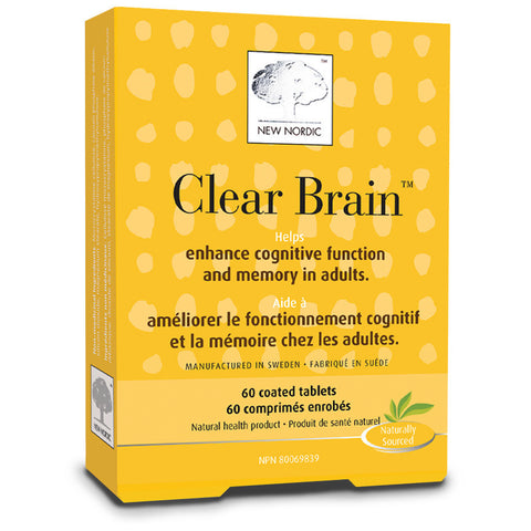 New Nordic Clear Brain 60 coated tablets by New Nordic - Ebambu.ca natural health product store - free shipping <59$