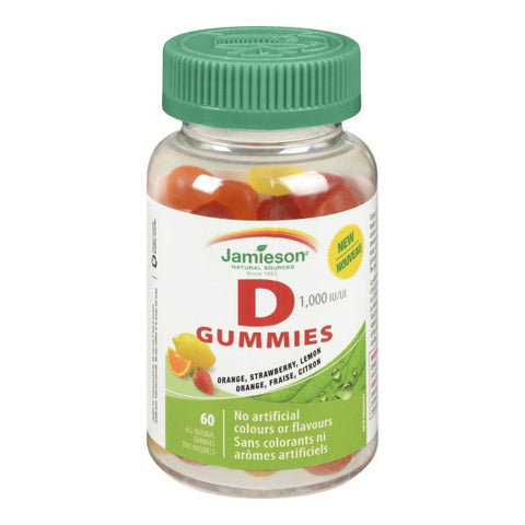 Jamieson Vitamin D Adult Gummies 1,000 IU by Jamieson - Ebambu.ca natural health product store - free shipping <59$