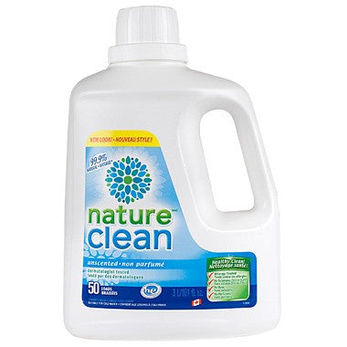 Nature Clean Laundry detergent 3 liters 50 loads by Nature Clean - Ebambu.ca natural health product store - free shipping <59$