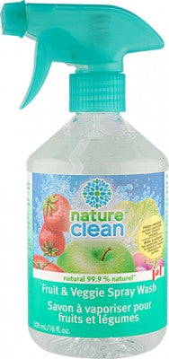 Nature Clean Fruit & Veggie Spray Wash 500 ml by Nature Clean - Ebambu.ca natural health product store - free shipping <59$