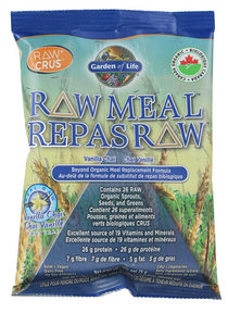Garden of Life Raw Meal Vanilla Bean 75 g by Garden of Life - Ebambu.ca natural health product store - free shipping <59$