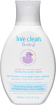 Live Clean - Soothing Tearless Baby Wash by Live Clean - Ebambu.ca natural health product store - free shipping <59$