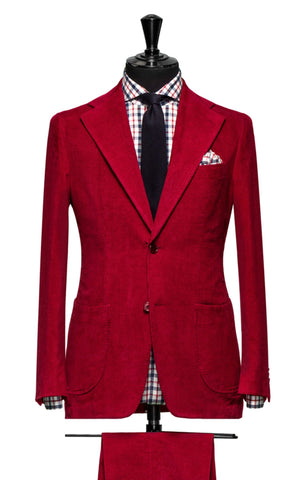 Larusmiani Milano Red Baby Rib Cotton Silk