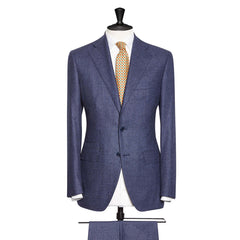 Mid Blue Faux Uni Soft Tweed