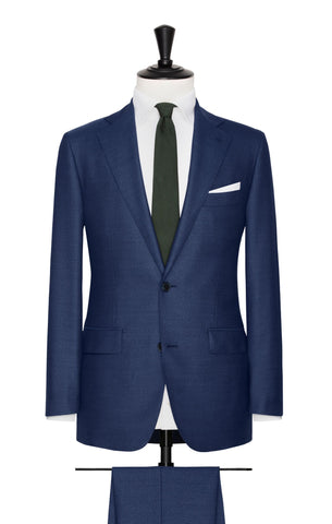 VBC mid blue sharkskin with mouliné effect