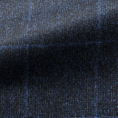 Mixed Blue Wool Bright Blue Windowpane
