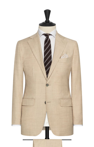 Marzotto Flannel Light Sand Brushed Wool