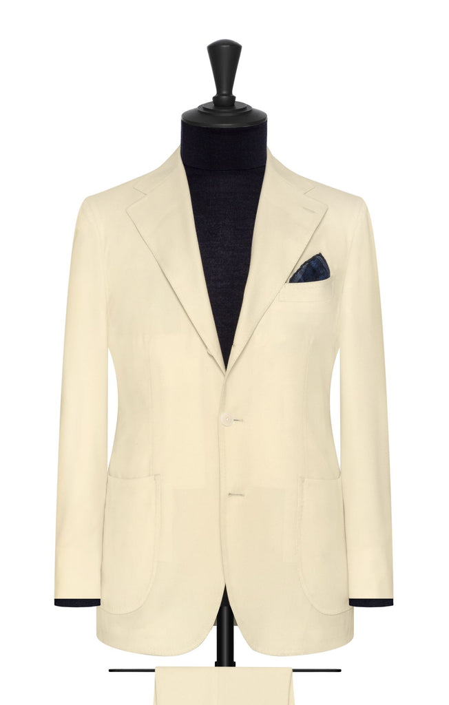 VBC ivory brushed wool twill