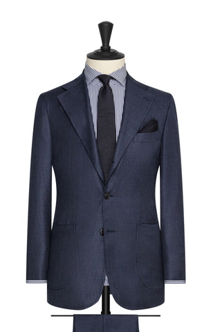 Loro Piana Navy blue s130 wool basketweave