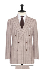beige wool silk linen with brown pinstripes Inspiration