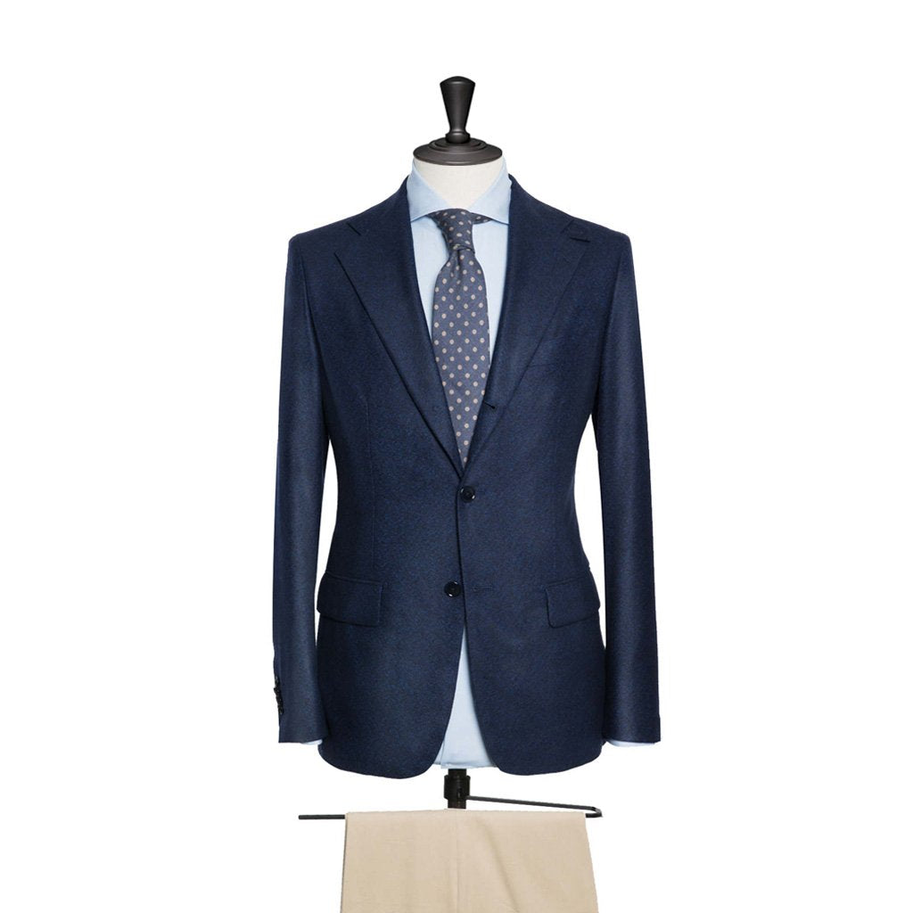 Loro Piana dark blue soft felt