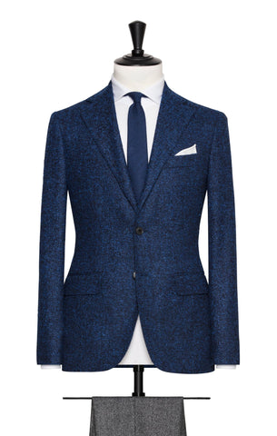 Loro Piana Bright Blue Faux Uni with Alpaca Bouclé
