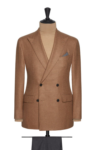 Loro Piana Brown Houndstooth with Baby Camel Hair