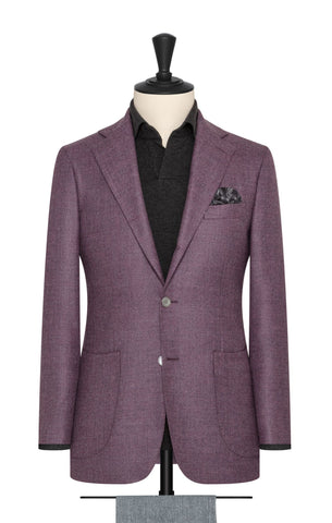 lilac brushed wool silk twill