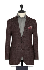 dark burgundy black stretch mouliné wool cotton blend Inspiration