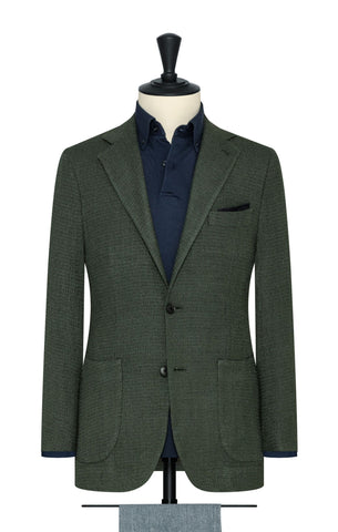 Ferla juniper green wool silk blend giro inglese