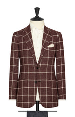 Angelico burgundy mouliné with white windowpane Inspiration