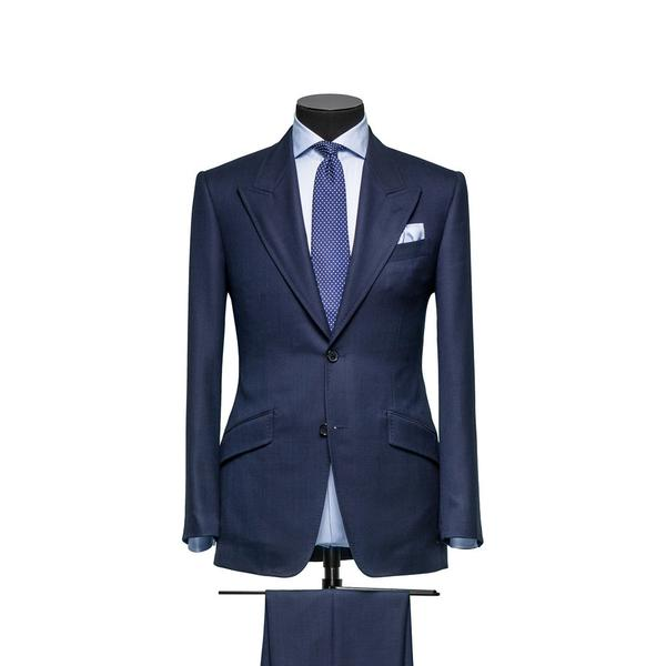 Neapolitan Blue Panama 365 Stretch Wool