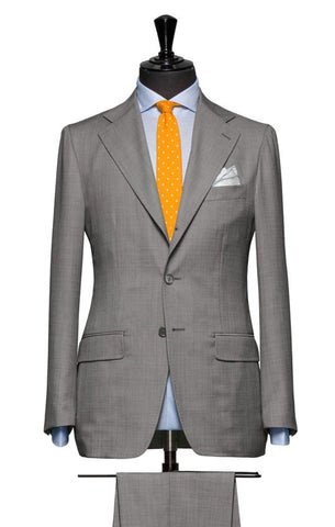 REDA Light Grey Sharkskin 365 Merino Wool