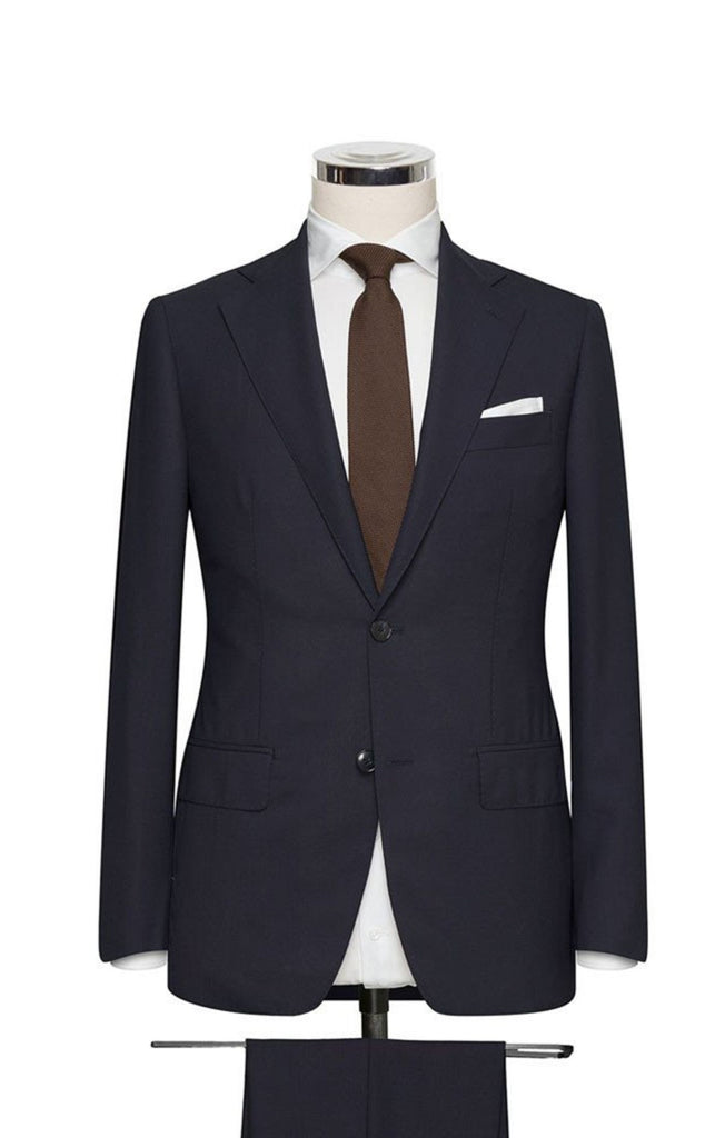 REDA Navy Plain 365 Wool Stretch