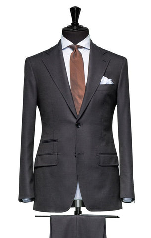 REDA Grey Stripe 0,2 Pinstripe 365 Wool Stretch