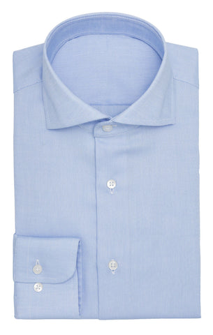 Albini light blue royal oxford