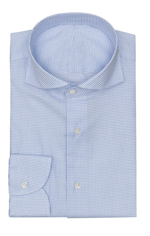 Albini light blue dark check