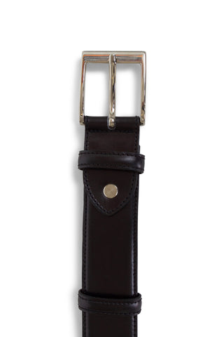 Kennedy Black Leather Belt
