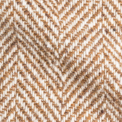 Brown White Big Herringbone