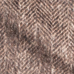 Brown Brushed Herringbone