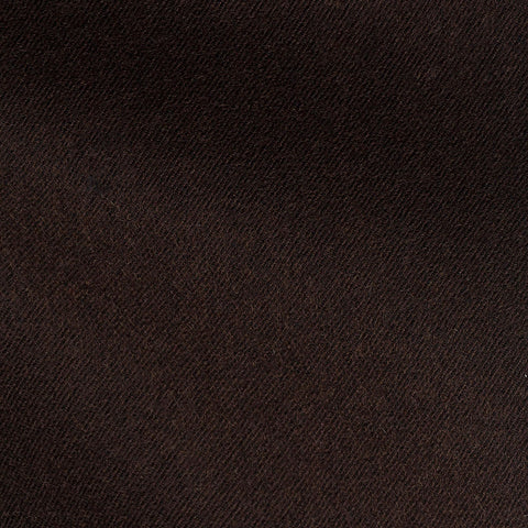 Dark Brown Twill Slightly Brushed