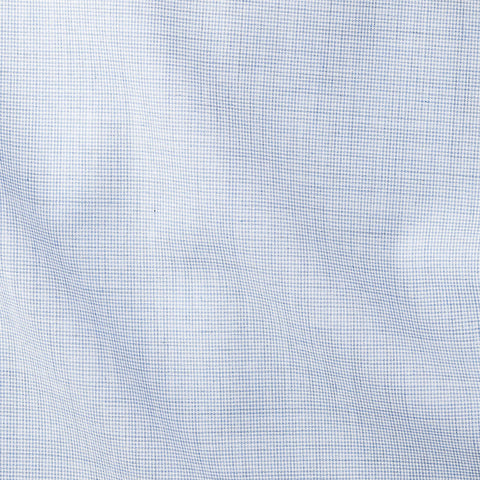 Light Blue Poplin Pied De Poule