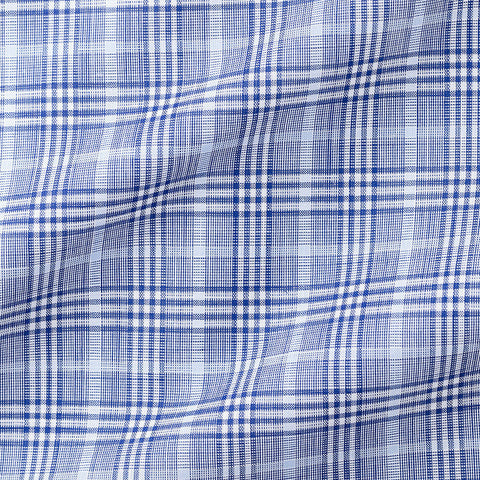 Light Blue Poplin Glencheck Windowpain