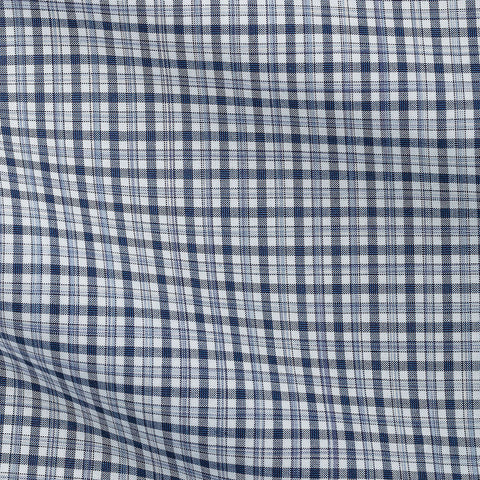 Light Blue Mid Blue Tartan Plain Weave