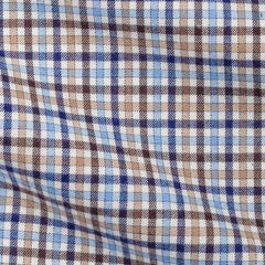 Blue Brown Tartan Soft Flannel Twill