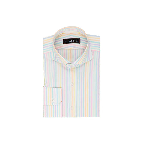 Multi Pale Stripes Poplin