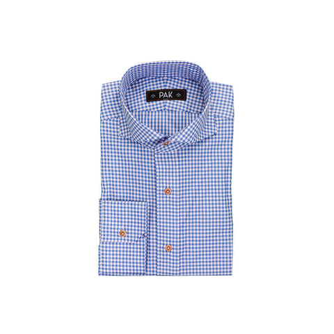 Light Pink Blue Checks Poplin