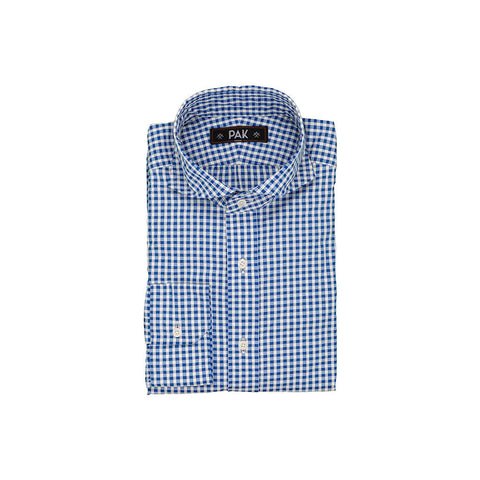 Blue Off White Gingham Small